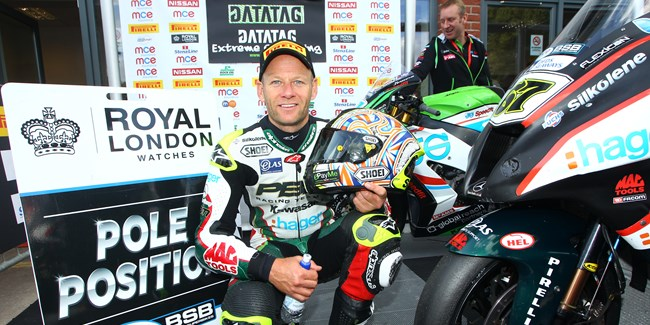 Shakey sets the fastest ever lap of Oulton Park to claim pole position
