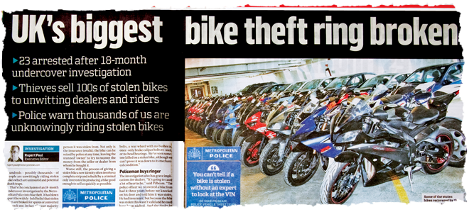 motorcycle theft news story