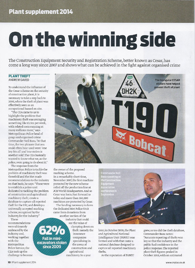ON THE WINNING SIDE - Construction News Plant Supplement 2014