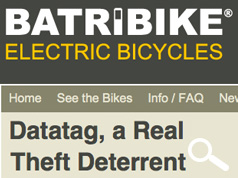 BATRIBIKE: DATATAG, A REAL THEFT DETERRENT