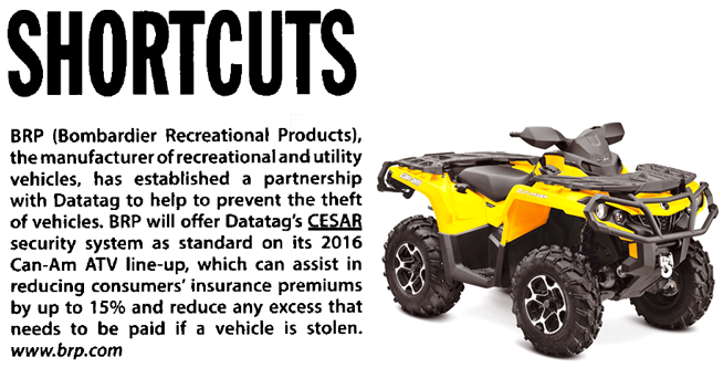 BRITISH DEALER NEWS ARTICLE ON CESAR FITTED TO CAN-AM ATV