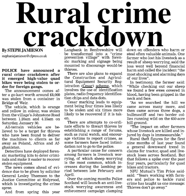 property crime news articles