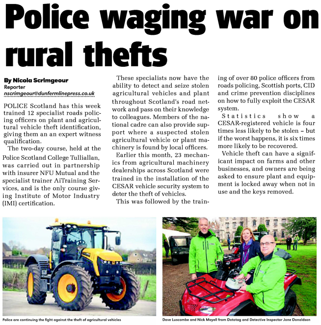FIFE AND KINROSS EXTRA FEATURE ON POLICE SCOTLAND CESAR TRAINING