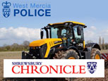 SHROPSHIRE CHRONICLE NEWS ARTICLE - TRACTOR THEFT TRAINING