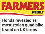 HONDA REVEALED AS MOST STOLEN QUAD BIKE BRAND ON UK FARMS