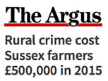 RURAL CRIME COST SUSSEX FARMERS £500,000 IN 2015