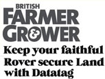 FEATURE ARTICLE BRITISH FARMER & GROWER - KEEP YOUR FAITHFUL LAND ROVER SECURE WITH DATATAG