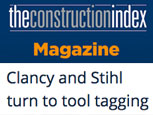 FEATURE ARTICLE CONSTRUCTION INDEX - CLANCY AND STIHL TURN TO TOOL TAGGING