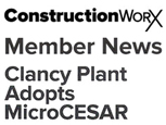 FEATURE ARTICLE CONSTRUCTION WORX - CLANCY PLANT ADOPTS MicroCESAR