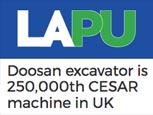 FEATURE ARTICLE IN LANDSCAPE AND AMENITY - Doosan excavator is 250,000th CESAR machine in UK