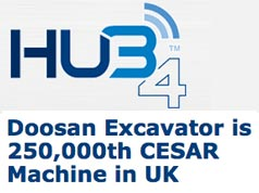 FEATURE ARTICLE IN HUB4 - Doosan excavator is 250,000th CESAR machine in UK